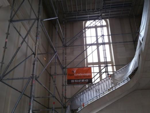 Préfecture d'Agen (47) échafaudage d'escalier