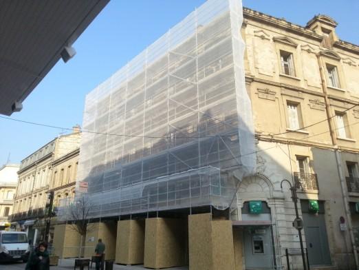 échafaudage de façade